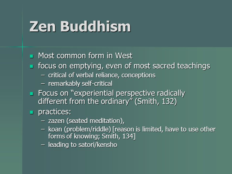 an analysis of zen buddhism Zen buddhism knows how, we are told, to give an inclusive unity to all things   respect for life in its suffering is part of the analysis, but something about treating .