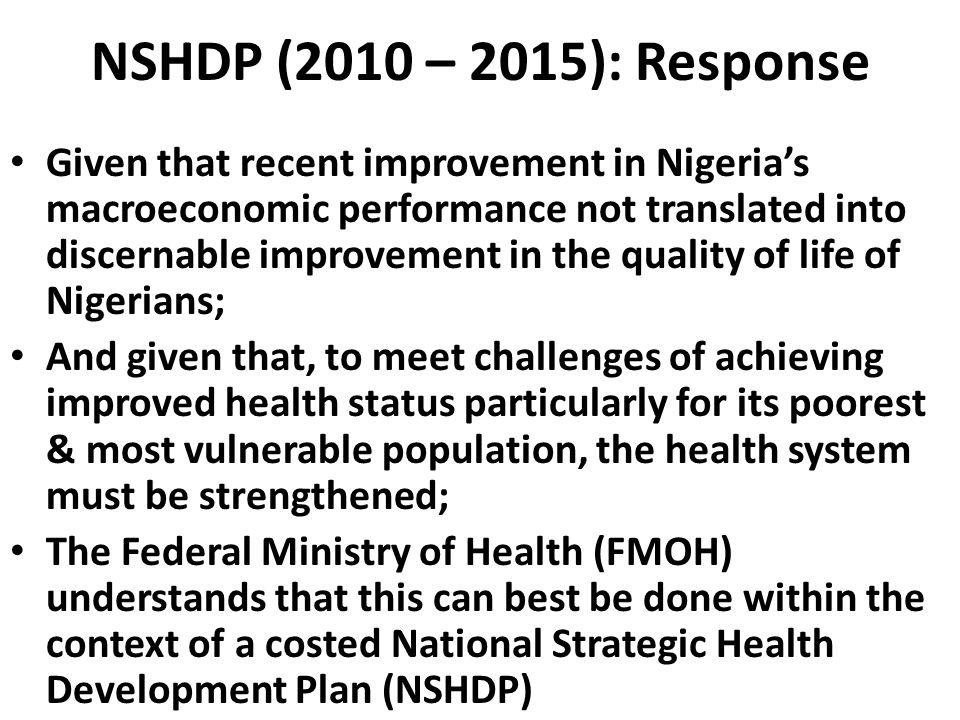 NSHDP (2010 – 2015): Response