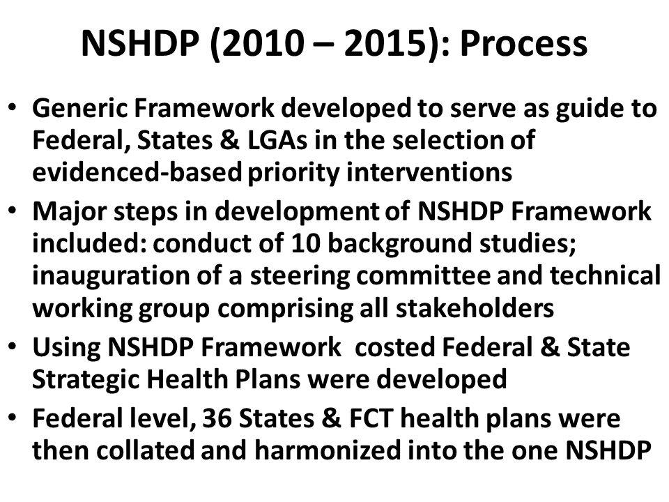 NSHDP (2010 – 2015): Process