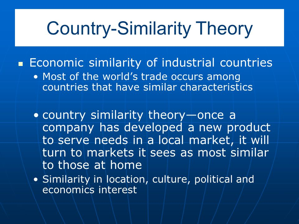 importance of country similarity theory pdf