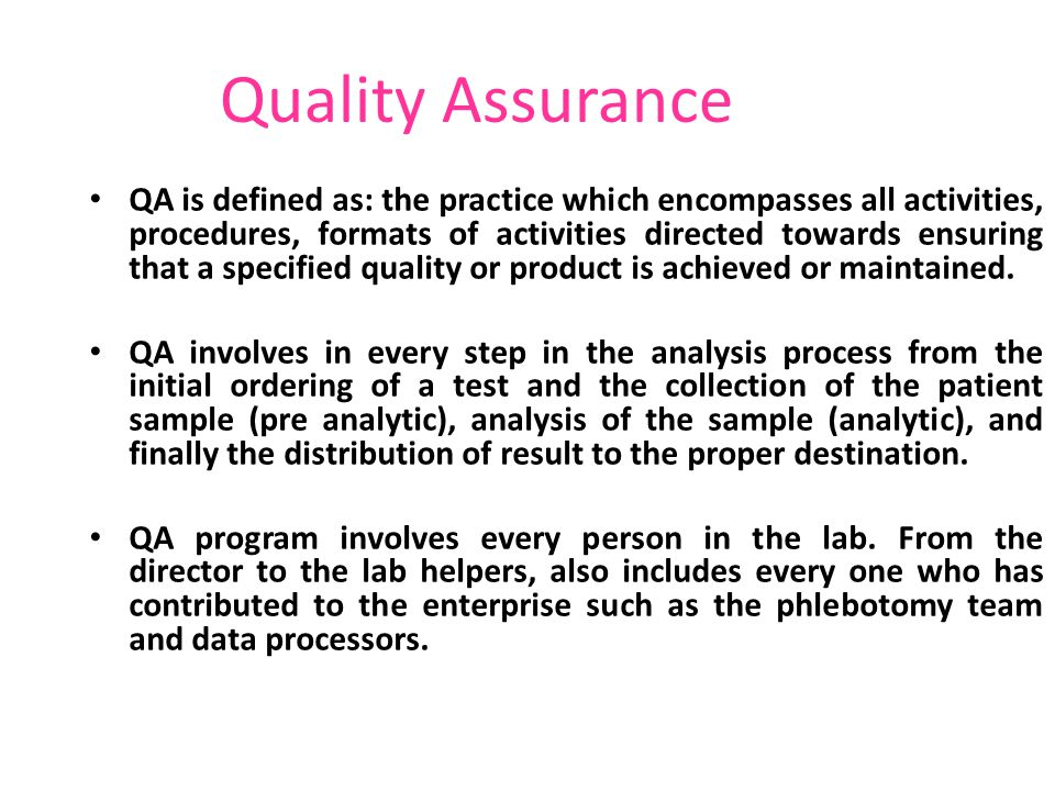 Quality Assurance. - Ppt Video Online Download