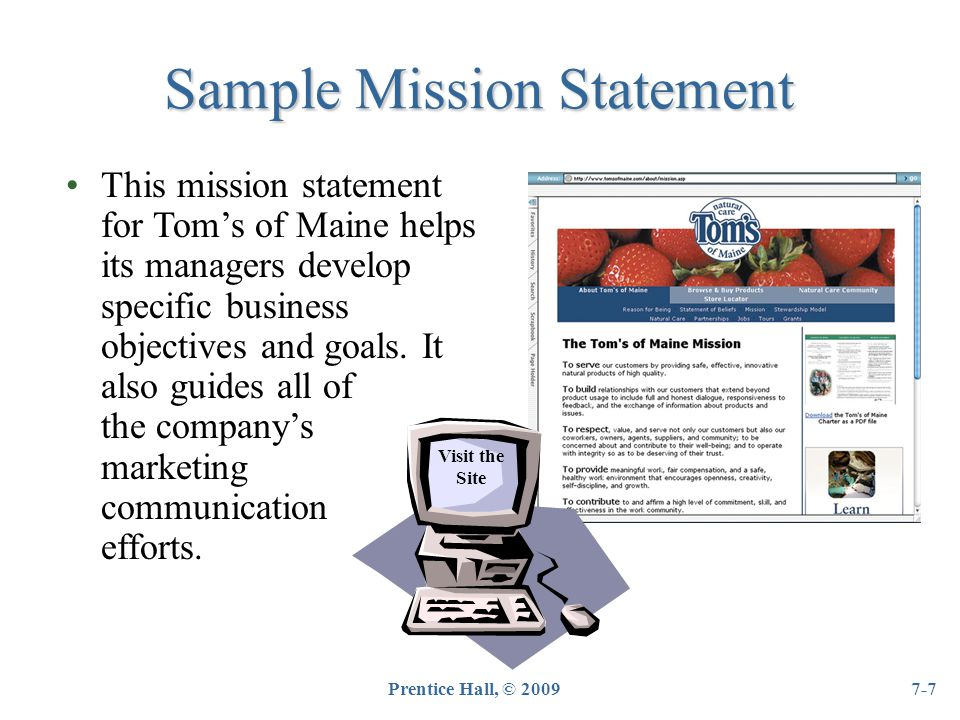 tom s maine critique mission statement Although the liberator was garrison's most prominent abolitionist activity, he had been involved in the fight to end slavery for years prior to its publication.