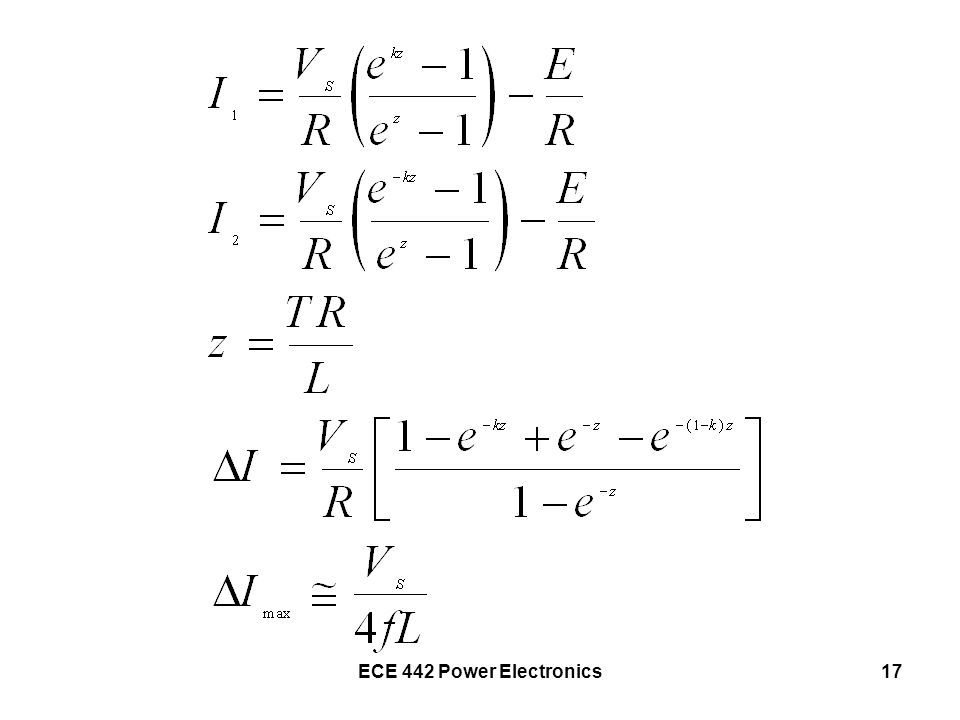 ECE 442 Power Electronics