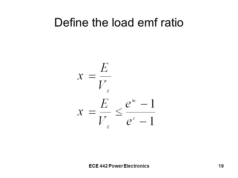 Define the load emf ratio