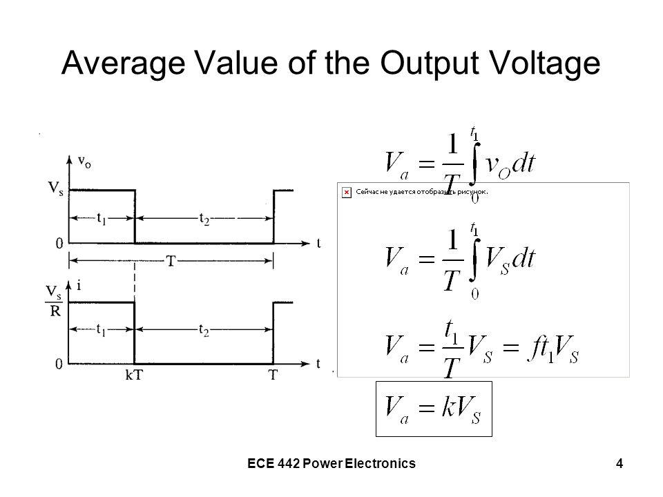 Average Value of the Output Voltage
