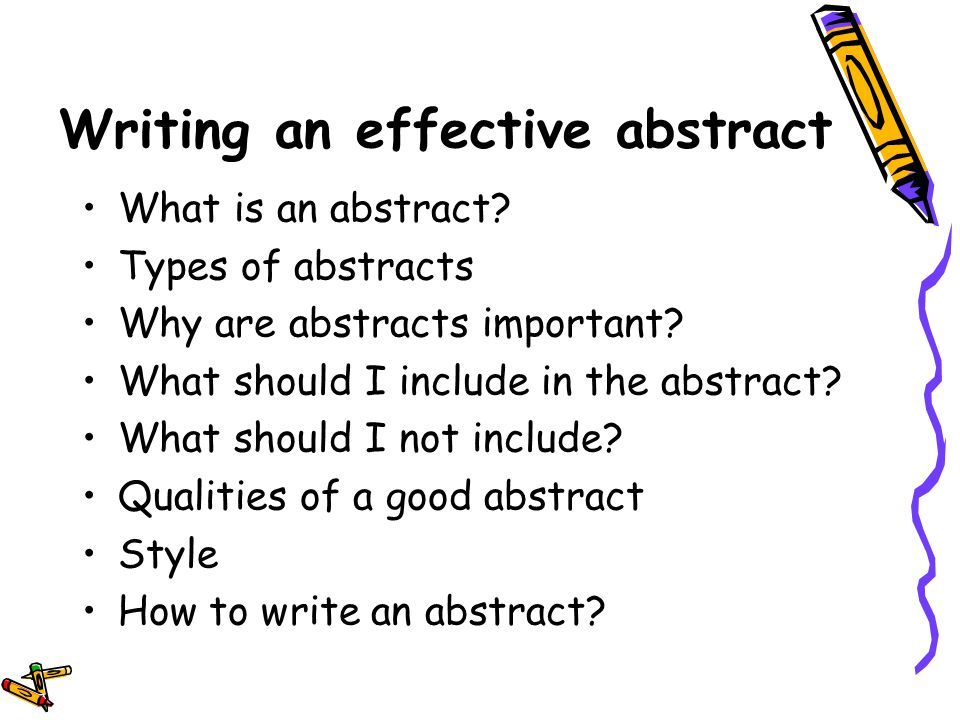 The Abstract Of A Research Paper