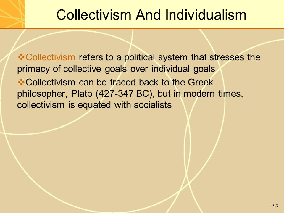 individualism and communilism 1 (1961) now that our country has entered the period of the comprehensive  building of communism, problems of the communist upbringing of the soviet  people,.