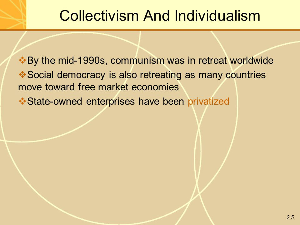 Communalism and individualism
