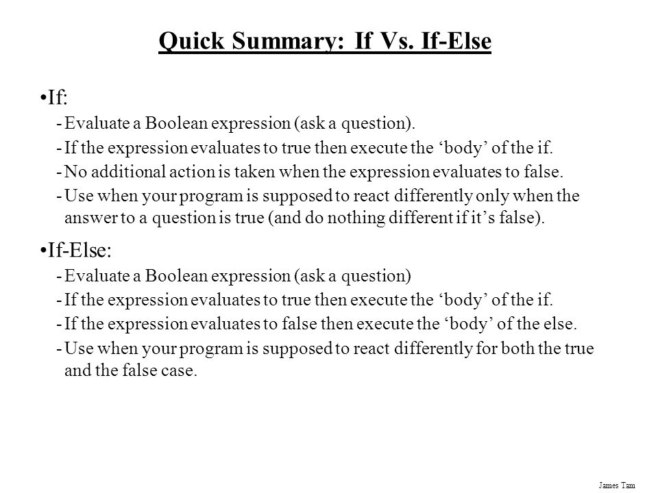 Quick Summary: If Vs. If-Else