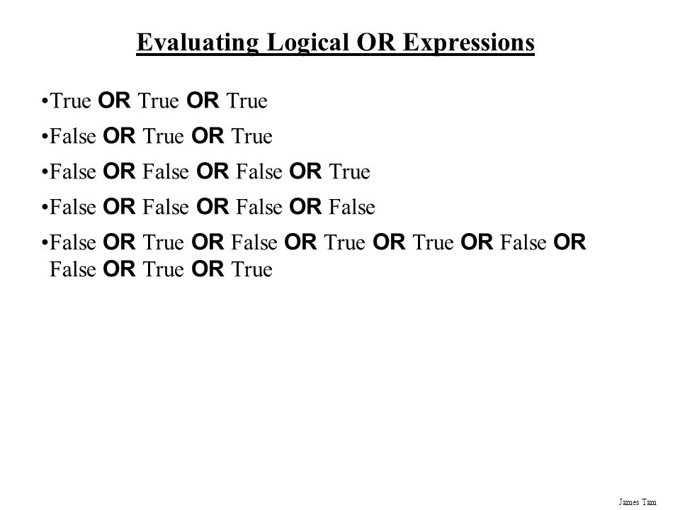 Evaluating Logical OR Expressions