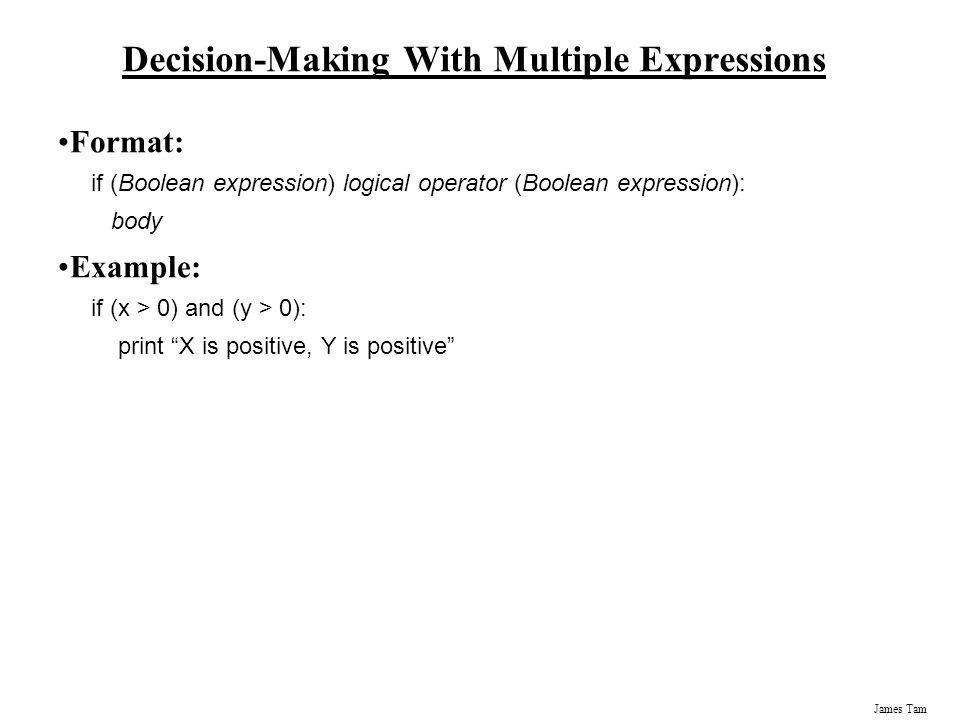 Decision-Making With Multiple Expressions