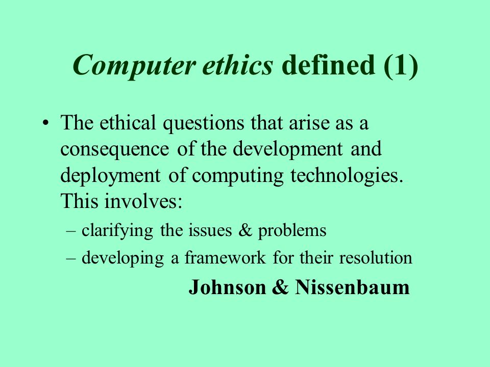 essay on computer ethics Read this essay on 10 commandments of cumputer ethics come browse our large digital warehouse of free sample essays get the knowledge you need in order to pass your classes and more.