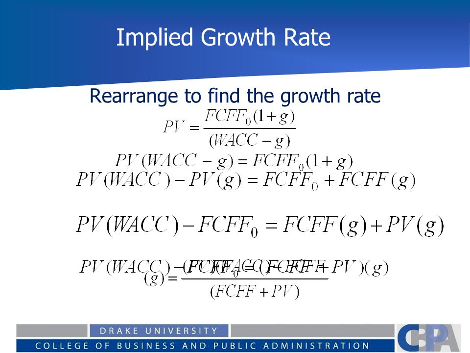 how to find substantial growth rate