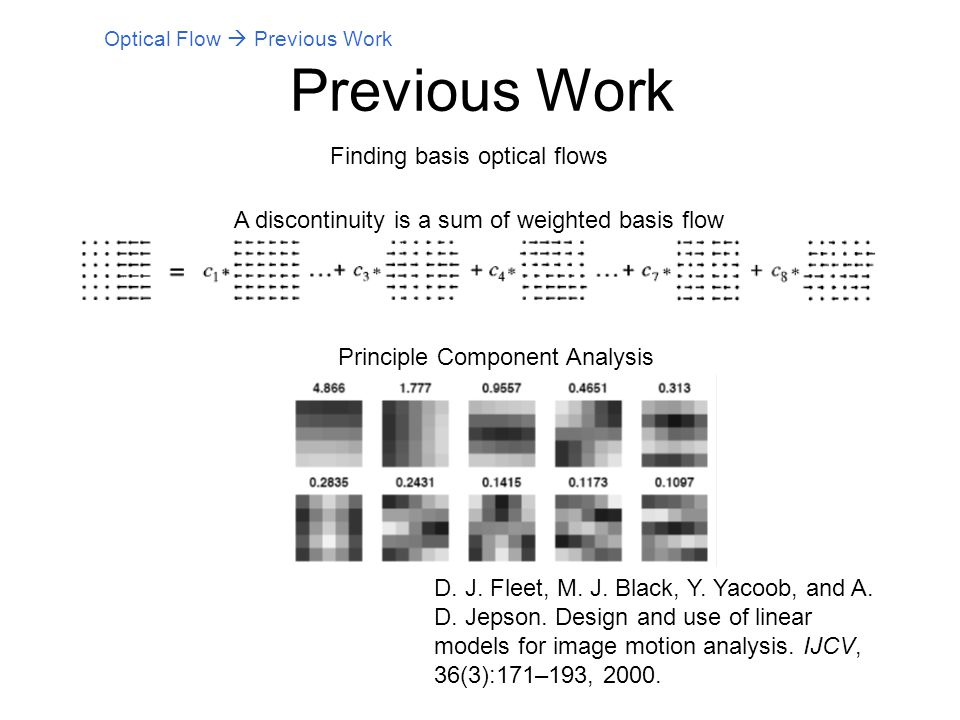 how to make optical flow analysis