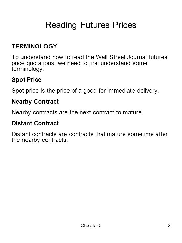 spot and futures prices relationship quotes