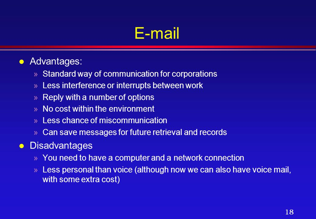 Advantages & Disadvantages of Email Over Traditional Post Offices