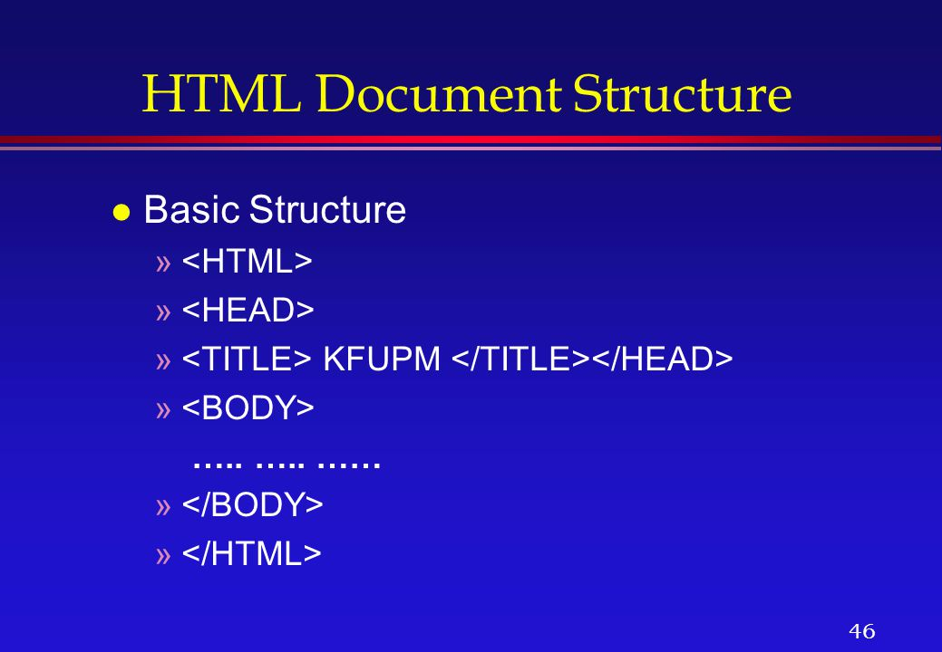 anatomy of html document download