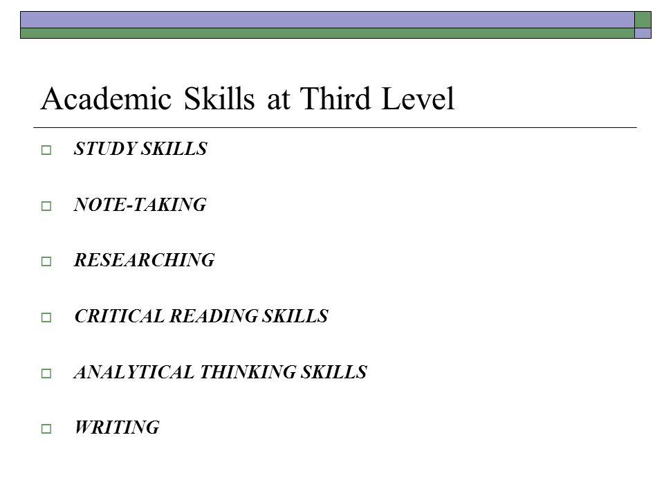 Study skills - Sample Essays