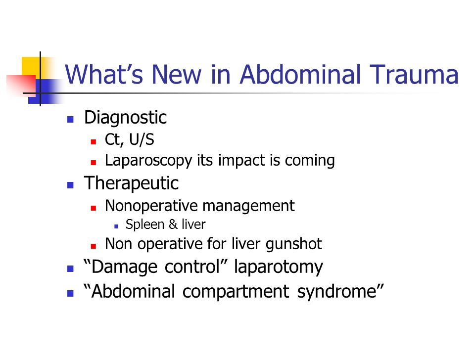 What's New in Abdominal Trauma