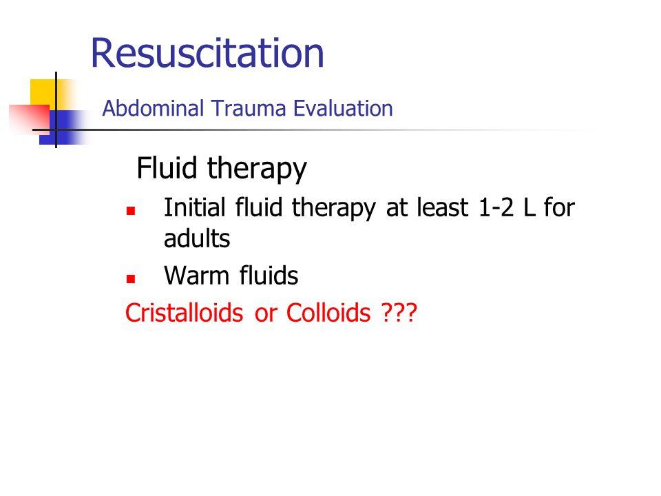 Resuscitation Abdominal Trauma Evaluation