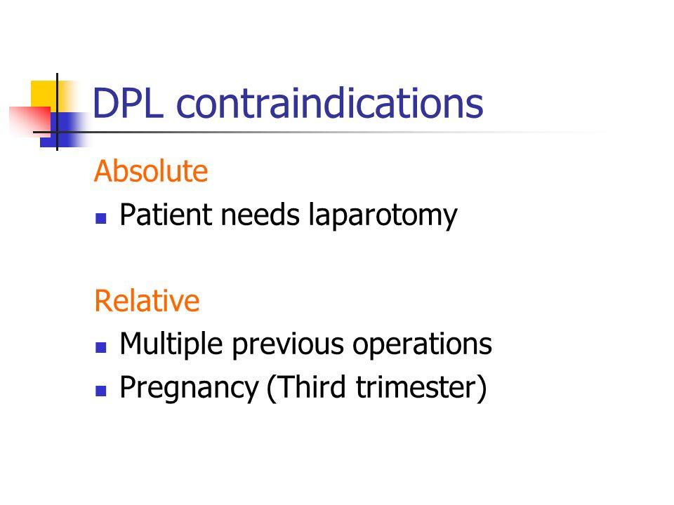 DPL contraindications