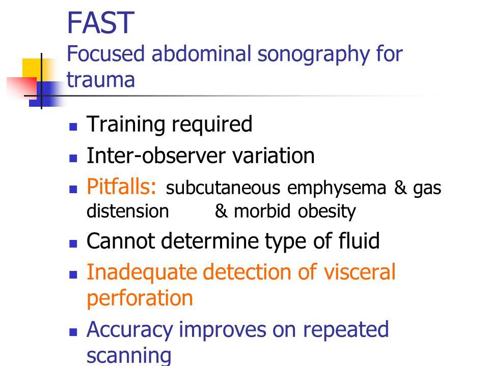 FAST Focused abdominal sonography for trauma