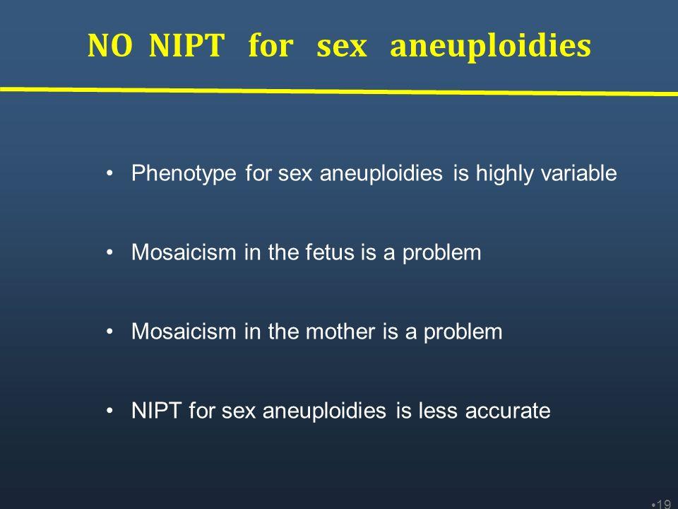NO NIPT for sex aneuploidies