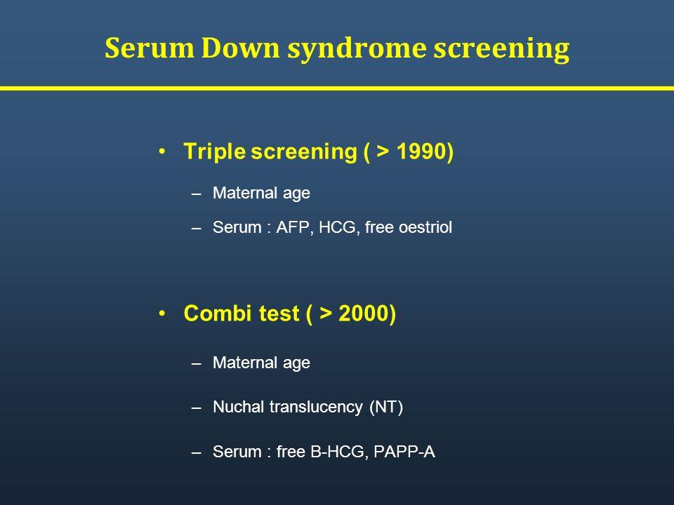 Serum Down syndrome screening
