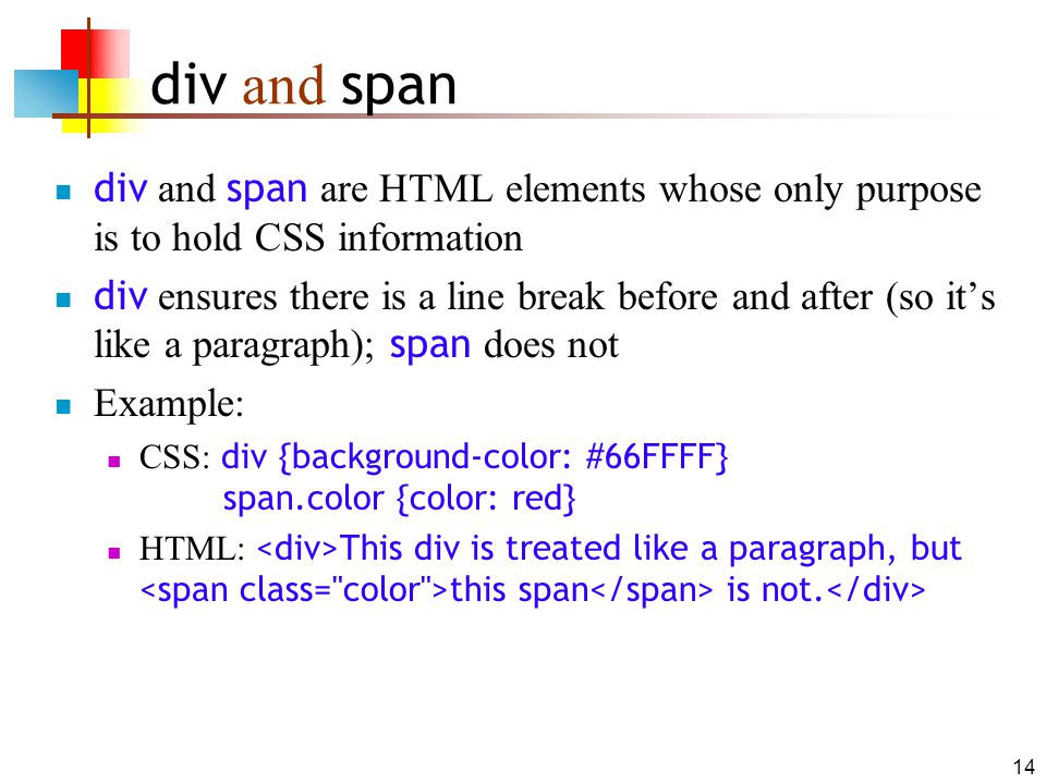 First css lecture applications to html ppt download - Html div span ...