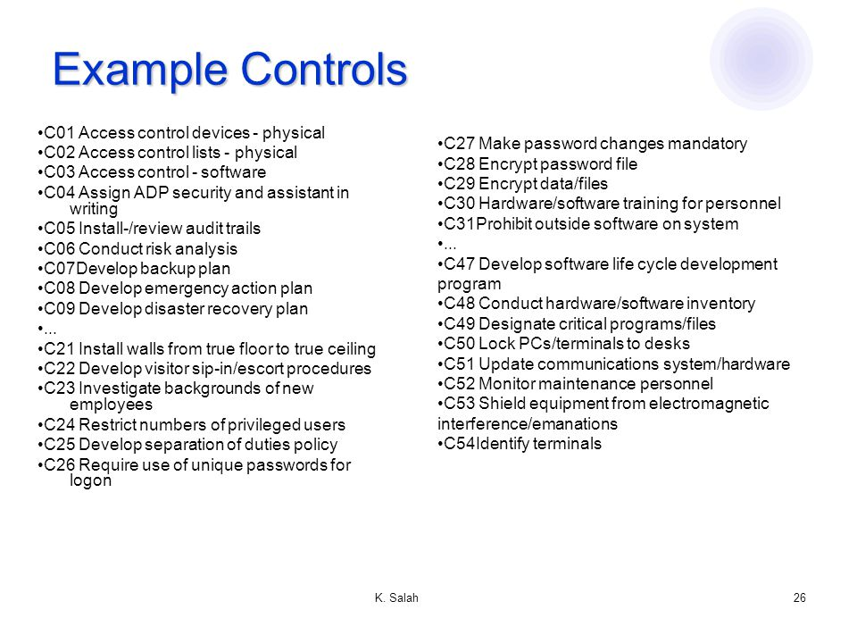 Administering security ppt video online download for Physical access control policy template