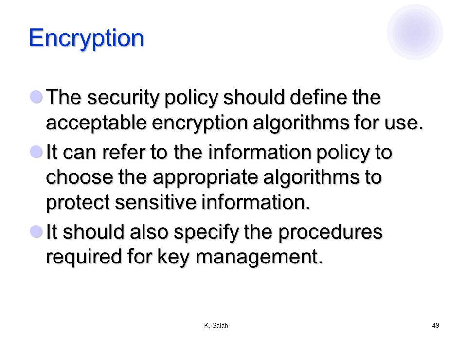 acceptable encryption policy This post contains question and answer ccna security chapter 11 test  which type of security policy includes acceptable encryption  invisible algorithm.