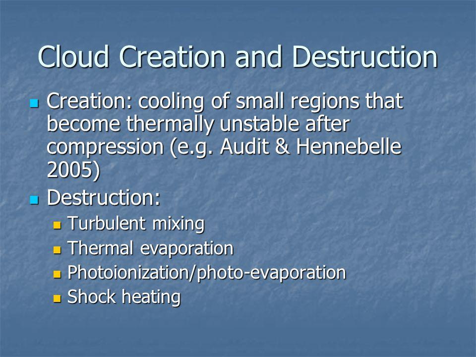 Cloud Creation and Destruction