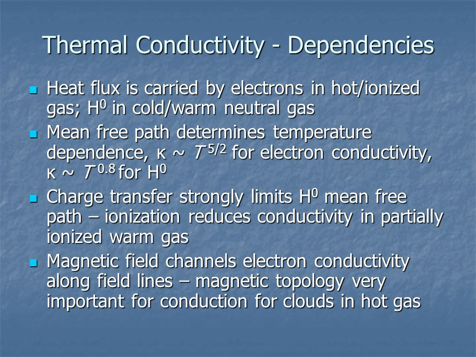 Thermal Conductivity - Dependencies