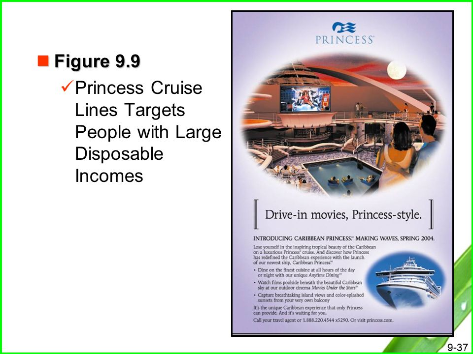 Figure 9.9 Princess Cruise Lines Targets People with Large Disposable Incomes