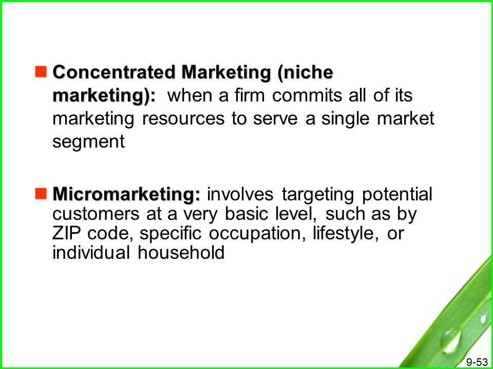 differences between mass marketing and niche Niche market and mass market: niche market and mass market: is there one best strategy 12:09 4 so between a niche marketing approach or mass marketing.