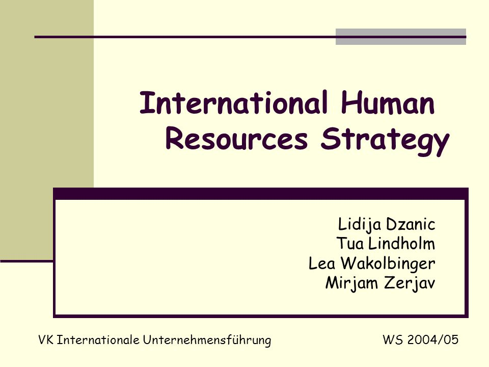 an essay on international human resource strategy The study of international human resource management (ihrm) has focused mainly on the policies, practices and strategies of human resource practitioners in individual multinational firms the goal of this special issue is to move beyond this narrow focus at the enterprise level and situate hrm within wider economic, organizational, political and institutional contexts.
