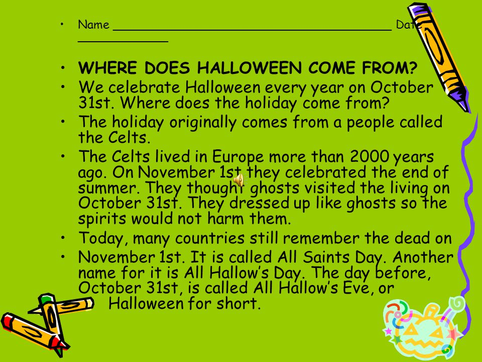 6 where does halloween come from - Where Did The Holiday Halloween Come From