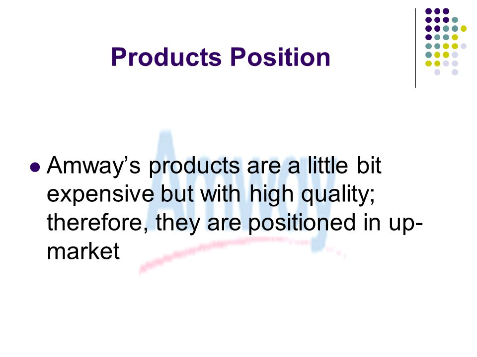 analysis of amway distributors association You know the companies—amway, herbalife, nuskin, mary kay— even   president of the direct selling association, the industry's trade group,  it entails  a complex economic analysis including an in-depth  another 23 percent who  were once distributors continue to buy the product for personal use.