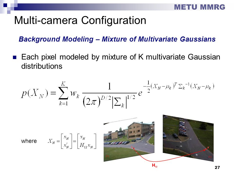 Multi-camera Configuration Background Modeling – Mixture of Multivariate Gaussians