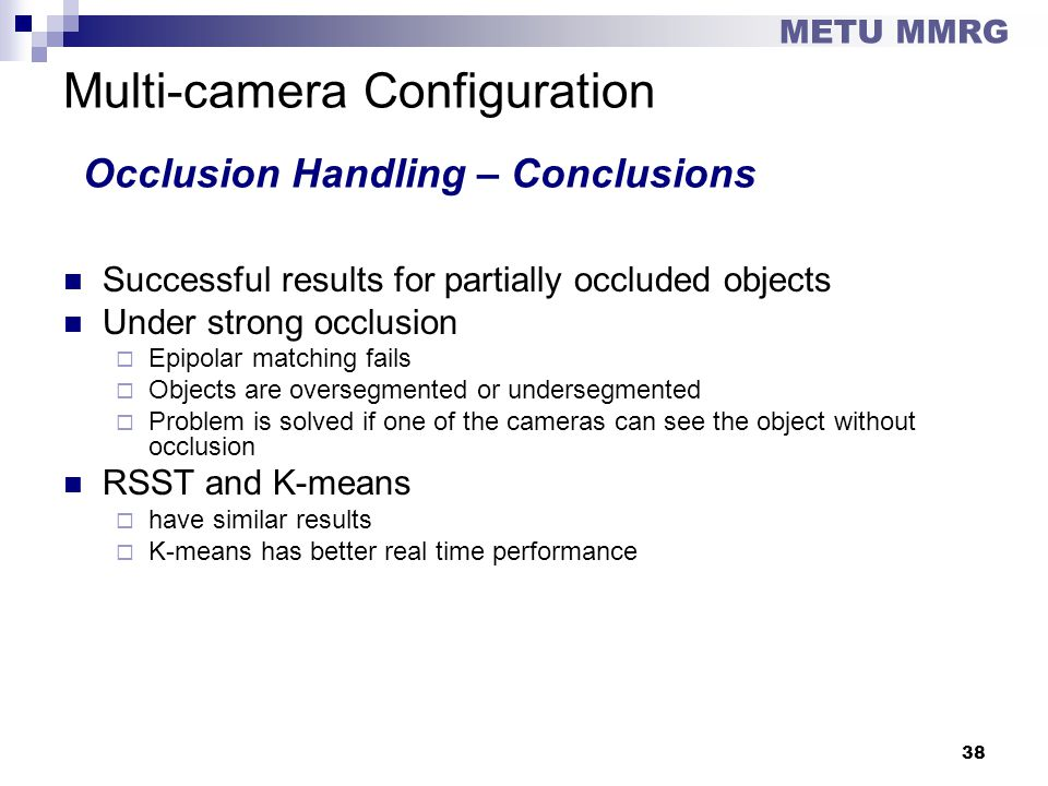 Multi-camera Configuration Occlusion Handling – Conclusions