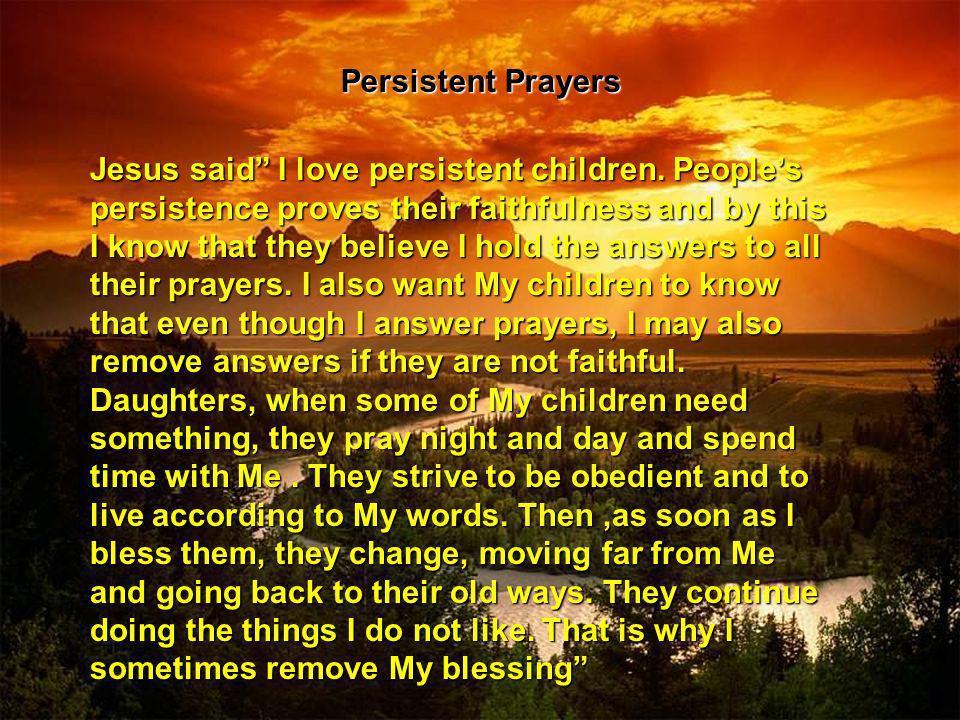 Persistent Prayers