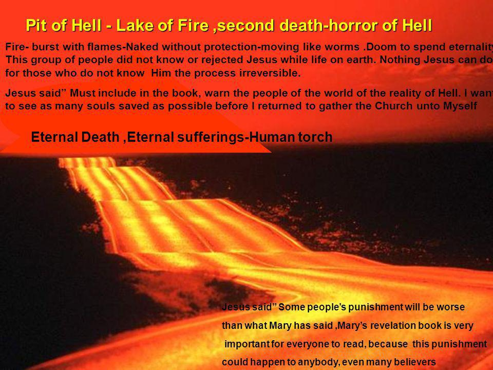 Pit of Hell - Lake of Fire ,second death-horror of Hell