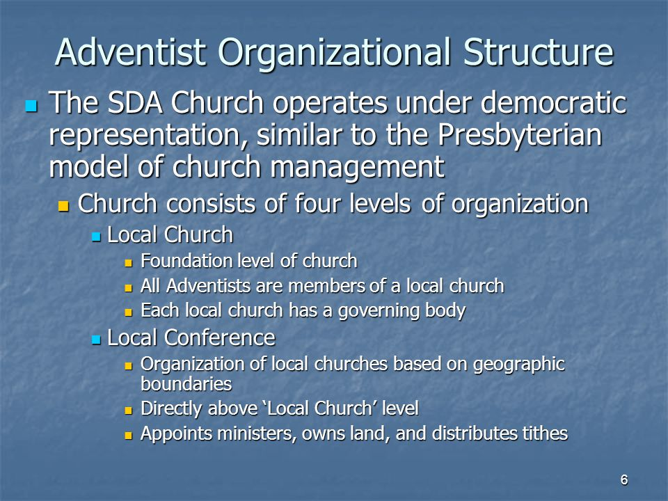 an analysis of the hierarchy of religious organizations Whenever churches or religious organizations find themselves involved in civil litigation churches in court in an ongoing series of occasional reports the first type of case involves property disputes within a religious organization.