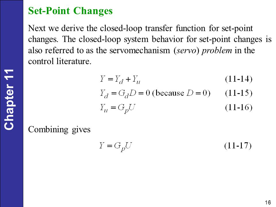 Set-Point Changes