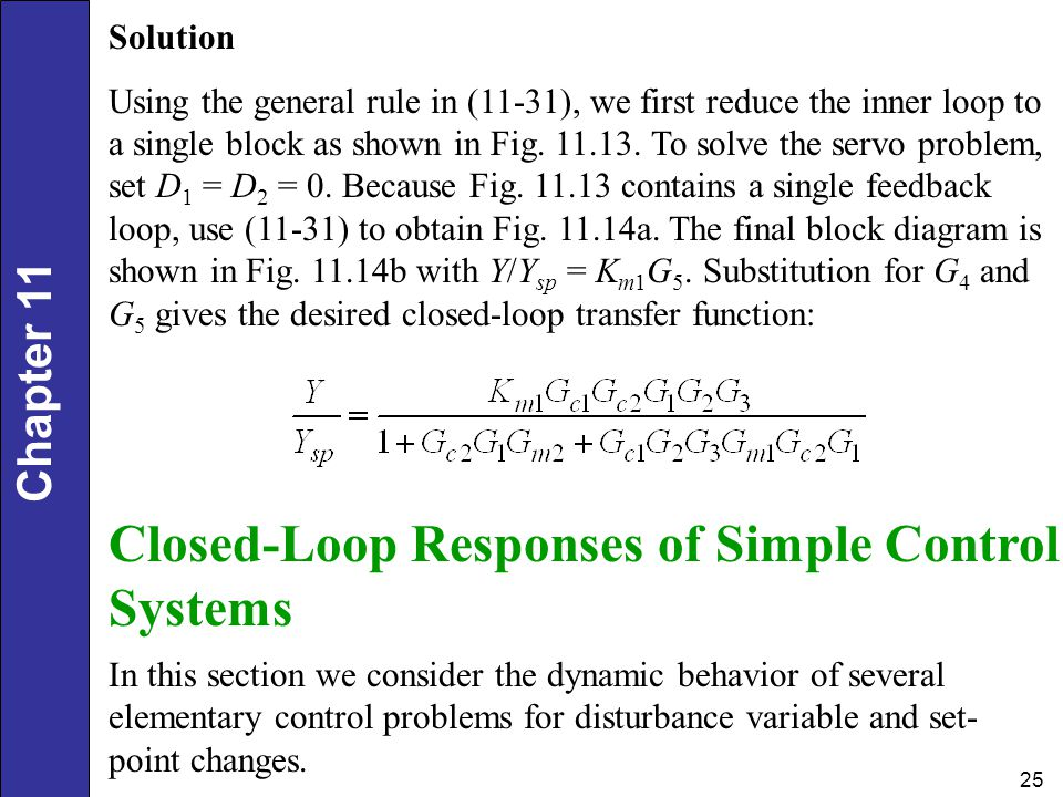 Closed-Loop Responses of Simple Control Systems