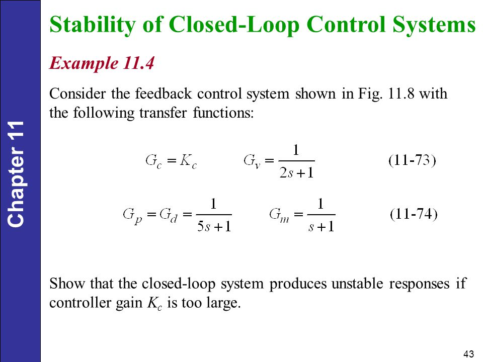 Stability of Closed-Loop Control Systems