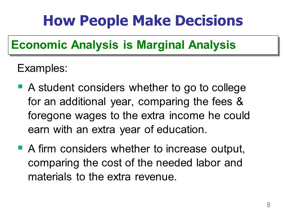how people make economic decisions eco How people make decisions how people interact how home eco 365 week 1 assignment ten principles of economics and how markets work eco.