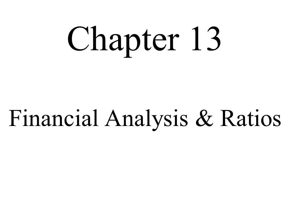 Financial Analysis & Ratios