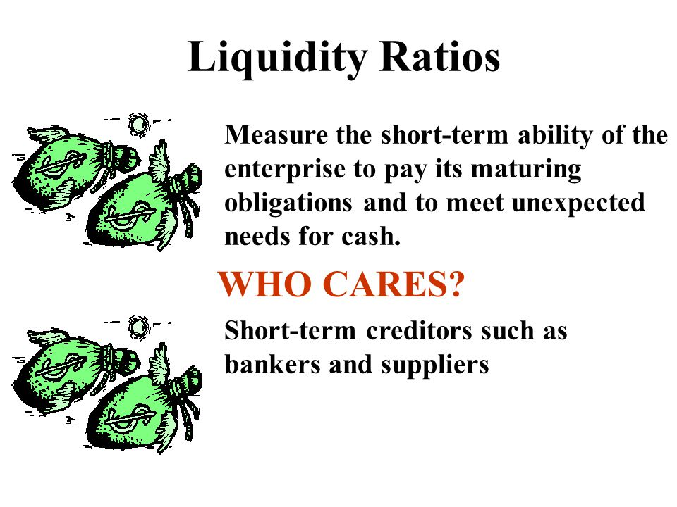 Liquidity Ratios WHO CARES