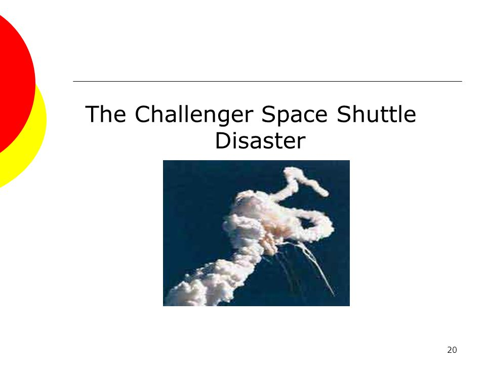 the challenger disaster responsibility of The space shuttle challenger disaster  have a responsibility to contact any authority that will manage and control that situation in the best interest of the.